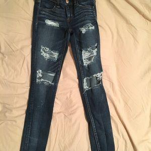 AE Super Stretch Distressed Jeans 4